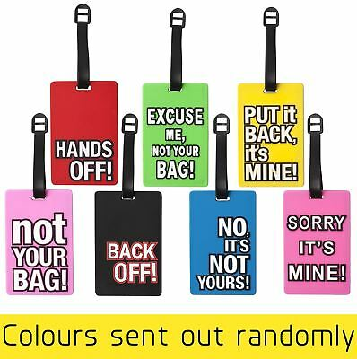 Luggage Straps Tags Suitcase Label Address Holder Rude Message Quote Sayings