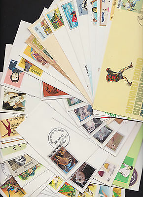 Pre-Stamped Envelope First Day of Issue 108 envelopes 1978-86 full set 001 - 107