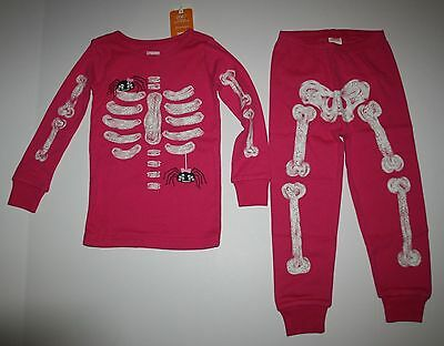 NEW Gymboree Skeleton Halloween Gymmies PJs Pink Size 3 4 5 6 7 8 10 12 14 Girls