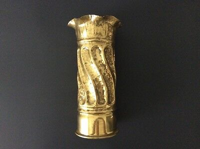 1898 Prussian German Trench Art Vase / WWI / Polte Magdeburg /