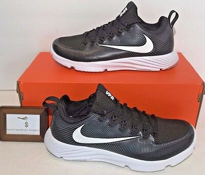 $110 Nike Mens Size 10.5 Vapor Speed Low Football Turf Shoes Black Untouchable