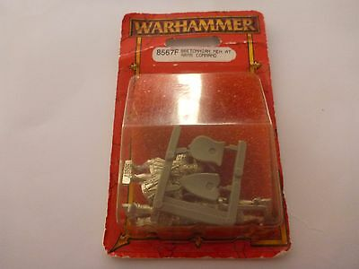Warhammer Fantasy Bretonnian Men at Arms Command New Blister Pack RARE Metal