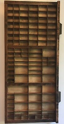 Vintage Letterpress Printers Tray Drawer Shadow Box - 3