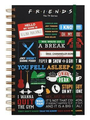 Friends Infographic A5 Notebook Black