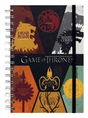 Game of Thrones Sigils A5 Notebook Black