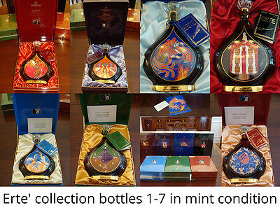 ERTE COURVOISIER COGNAC COLLECTION #1 thru #7 VERY RARE