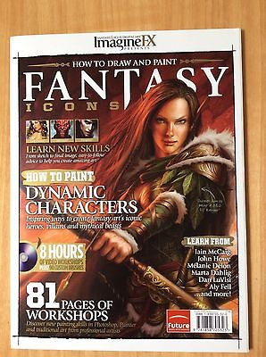 Imagine FX How to Draw & Paint Fantasy Icons Magazine + disc