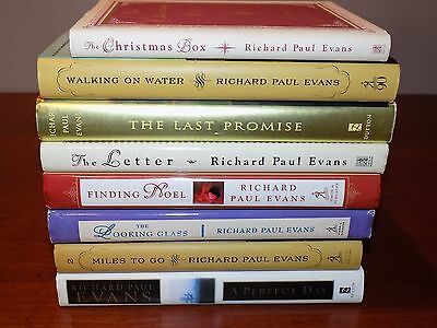 Lot of 8 Richard Paul Evans books HB Christmas Box, Letter, Perfect Day,..signed