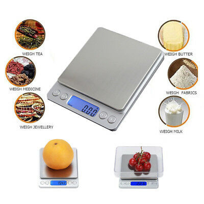 3kg/0.1g Kitchen Food Scale Digital LCD Electronic Balance Weight Postal Scales