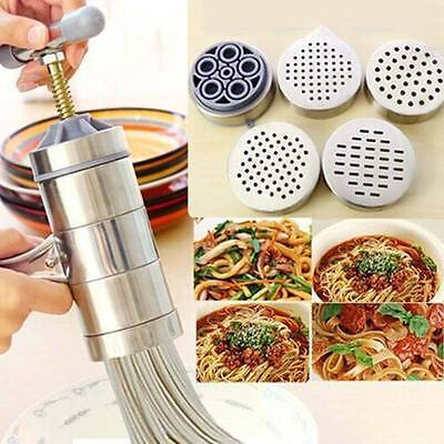 Kitchen Stainless Steel Manual Pasta Machine Hand Press Noodle Maker Juicer Tool