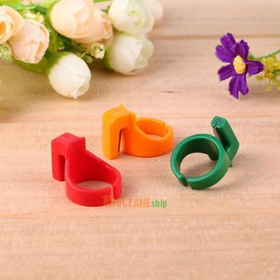 3pcs Plastic Sewing Thimble Ring with Blade Finger Thimble Thread Cutter Tool