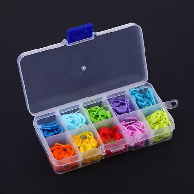 120pcs/Box 10 Colors Knitting Crochet Locking Stitch Needle Clip Markers Tool