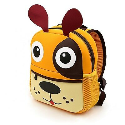 LABOO Animal Cartoon Toddler Children Backpack Waterproof Kids Lunch Bag Dog