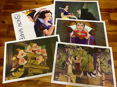 Disney Store Snow White and the Seven Dwarfs Set of 4 Lithographs NEW In Folder