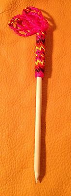 Awesome Native American Lakota Sioux Beaded Single Wooden Hair stick