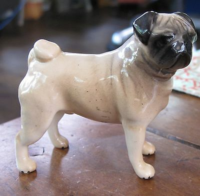 Beswick Fawn Pug Dog England Glossy Excellent Condition!