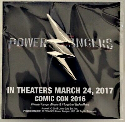 2016 SDCC EXCLUSIVE Official Mighty Morphin' Power Rangers Movie Promo Pin