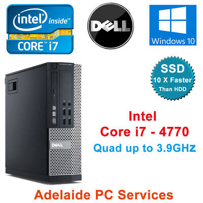 Dell Optiplex 9020 SFF Desktop Intel Core i7 4770 PC 8GB Ram 256GB SSD Win 10