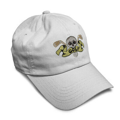 Skull Golf Embroidered Soft Low Profile Hat