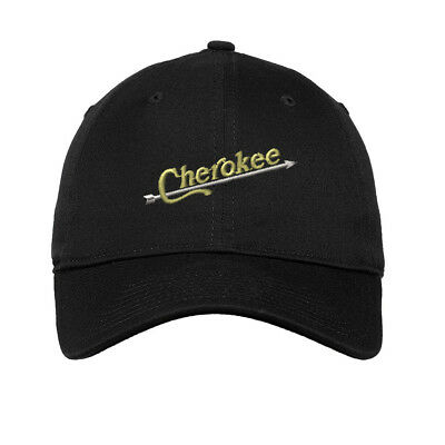 Indian Cherokee Embroidered Soft Low Profile Hat