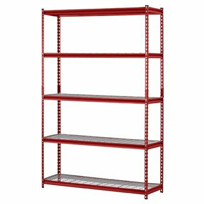 "Muscle Computers Features Rack UR184872-R 5-Shelf Steel Shelving Unit, 48"" Width"