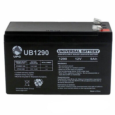 12V 1Amp Charger UPG 12V 5AH Battery Replaces Panasonic LC-R125P1 LCR125P1