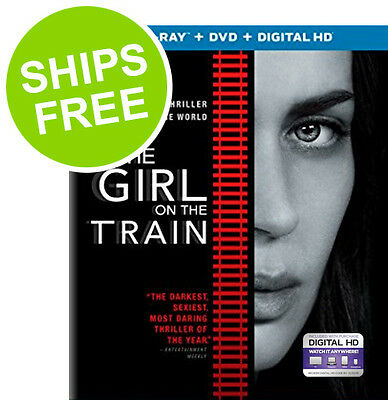 The Girl on the Train (Blu-Ray + DVD + Digital) NEW, Sealed, Emily Blunt
