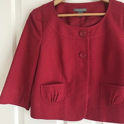 Ann Taylor Women's Jacket Blazer Career Style Red NWT - Size 4 AU S RRP $158