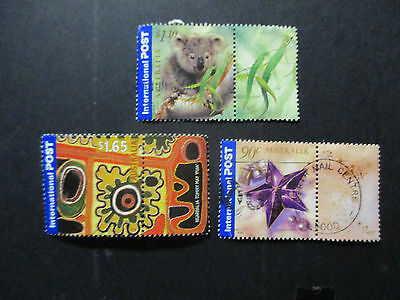 No--20---2002-- INTERNATIONAL  GREETINGS  -- -- 3  STAMPS--A1  USED