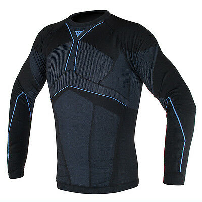 Dainese D-Core Aero LL Black / Cobalt Blue Motorcycle Tee Base Layer All Sizes