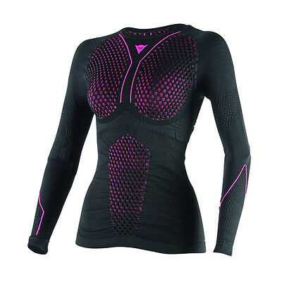 Dainese D-Core Thermo LS Black / Fuchsia Moto Ladies Tee Base Layer All Sizes