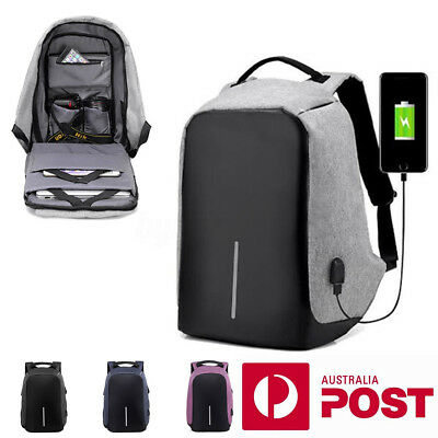 "AU 15.6"" Laptop Backpack Waterproof Anti Theft USB Computer Notebook School Bag"