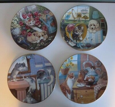 NEW Set of LITTLE SHOPKEEPER & COUNTRY KITTIES Collector Plates by Gre' Gerardi