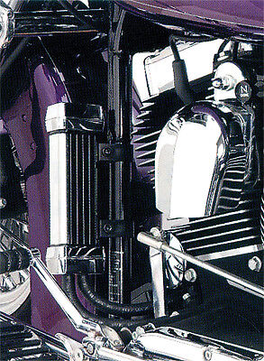 JAGG 1990-2015 Harley-Davidson FLSTF Fat Boy OIL COOLER SYSTEM CHROME 750-1100