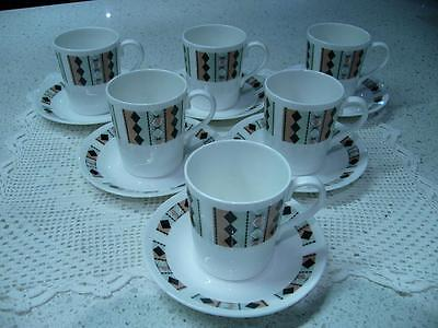 Vintage Royal Adderley Bone China Retro Demitasse Coffee Set Of 6 - Masquerade