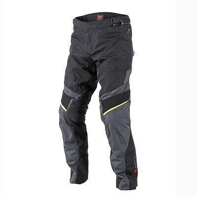 Dainese Ridder D1 Black / Ebony / Fluo Yellow Moto Gore-Tex Trouser All Sizes
