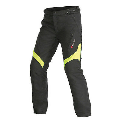 Dainese Tempest D-Dry Black / Fluo Yellow Moto Motorcycle Trouser All Sizes