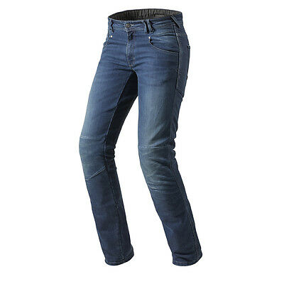 Rev'it! Corona Motorcycle Cordura Denim Urban Biker Jeans Blue Rev it Revit