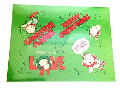 Vtg. Ziggy Plastic Coated Christmas Placemats 1979 NEW House of Paper Perfect
