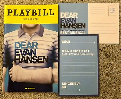 Dear Evan Hansen playbill - *Brand New!* *Free DEH Postcard!* *Free shipping!*