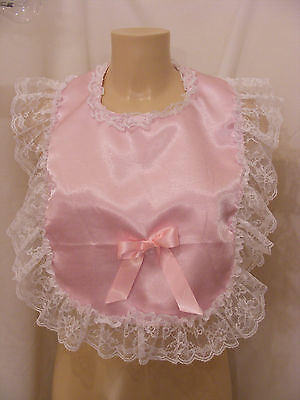 sissy adult baby customise your own frilly bibs colour lace backing fancydress
