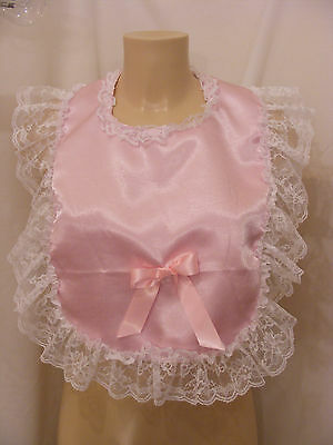 sissy adult baby customise yr own frilly bibs colour lace backing fancydress md