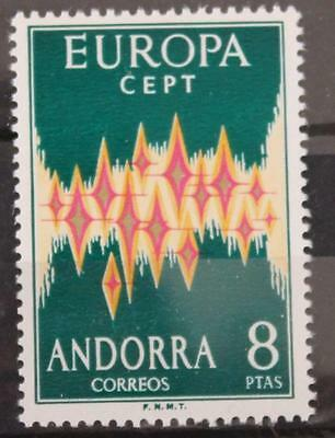 Andorra 1972 Europa Spanish Post Office Issue MNH SG67