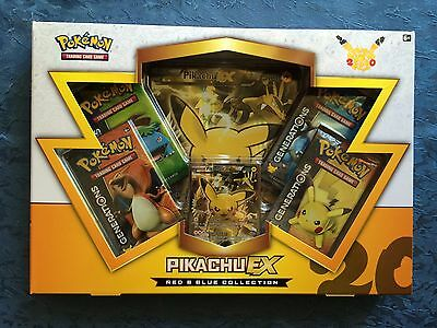 Pikachu EX Box Pokemon Cards TCG Generations Red & Blue Collection New Rare