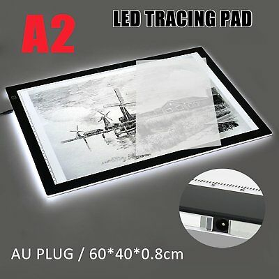 A2 Dimmable LED Art Stencil Tracing Drawing Board Lightbox Pad Touch Sensor OZ