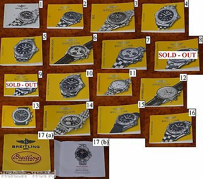 BREITLING RARE Instruction / Owner Manuals (16 different) NEW !
