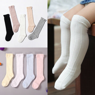 Toddler Girls Baby Cotton Knee High Socks Tights Leg Warmer Stockings For 0-3Y