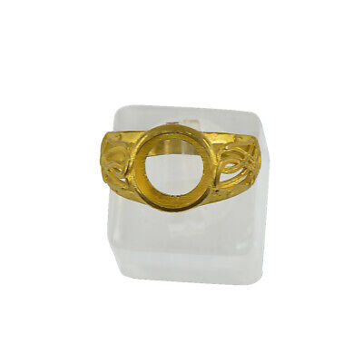 Ring Blanks Cabochon Settings Brass Gold Color Jewelry Making DIY Handcrafts