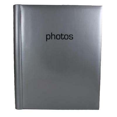 Photo Album - Occasion - Classic 'Photos' Design - Silver A4 Self Adhesive