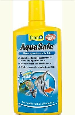New Tetra Aqua Safe 50Ml Makes Tap Water Clear Healthy Safe For Fish/ Uk Seller